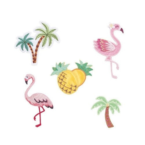 Tropical Iron On Patches - Set of 5