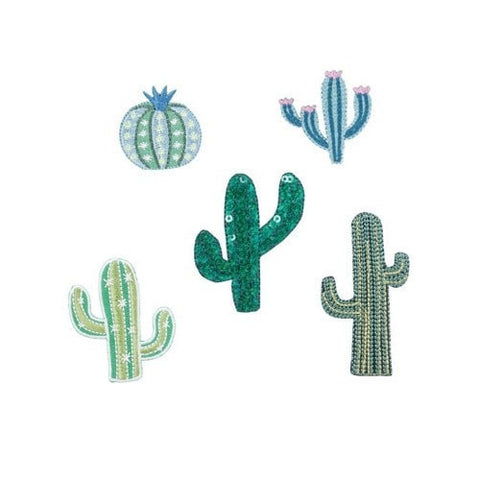 Cactus Iron On Patches - Set of 5