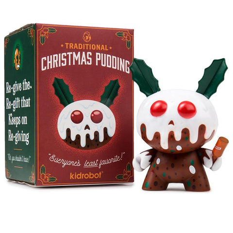 "Christmas Pudding 3"" Dunny by Kronk"