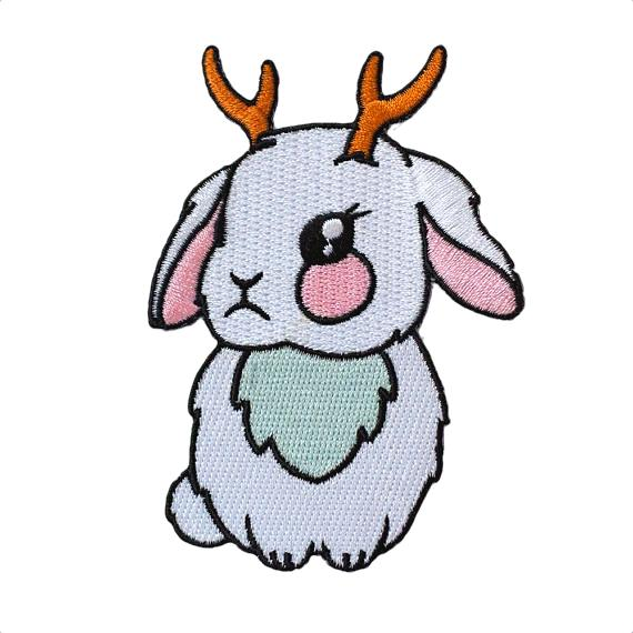 Jackalope Bunny Embroidered Patch