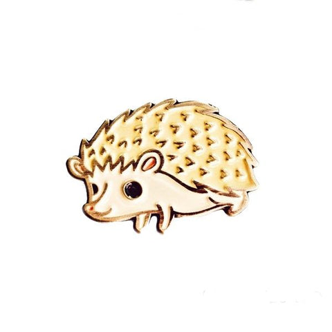 Hedgehog Enamel Pin by boygirlparty
