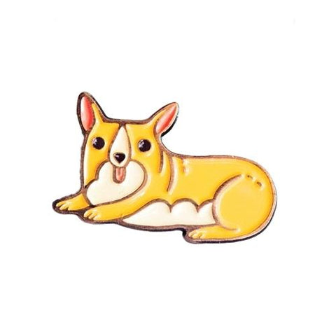 Corgi Enamel Pin by boygirlparty