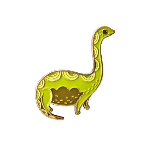 Brontosaurus Enamel Pin by boygirlparty