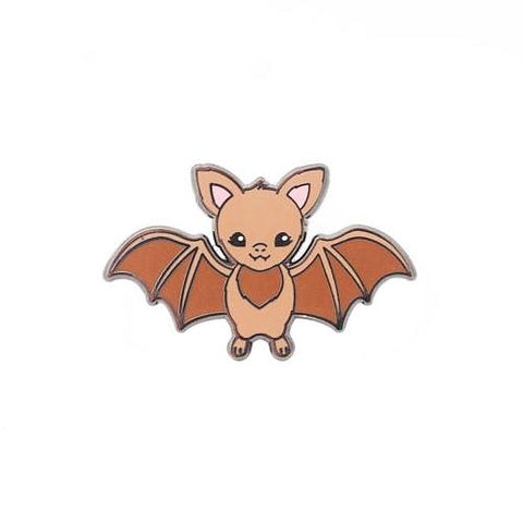 Brown Bat Enamel Pin