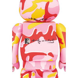Andy Warhol Pink Camo Be@rbrick 400% + 100% Set