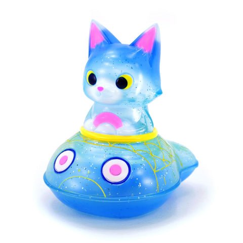 Wonder Vehicle: Cat with Fish Boat by Konatsu - Blue