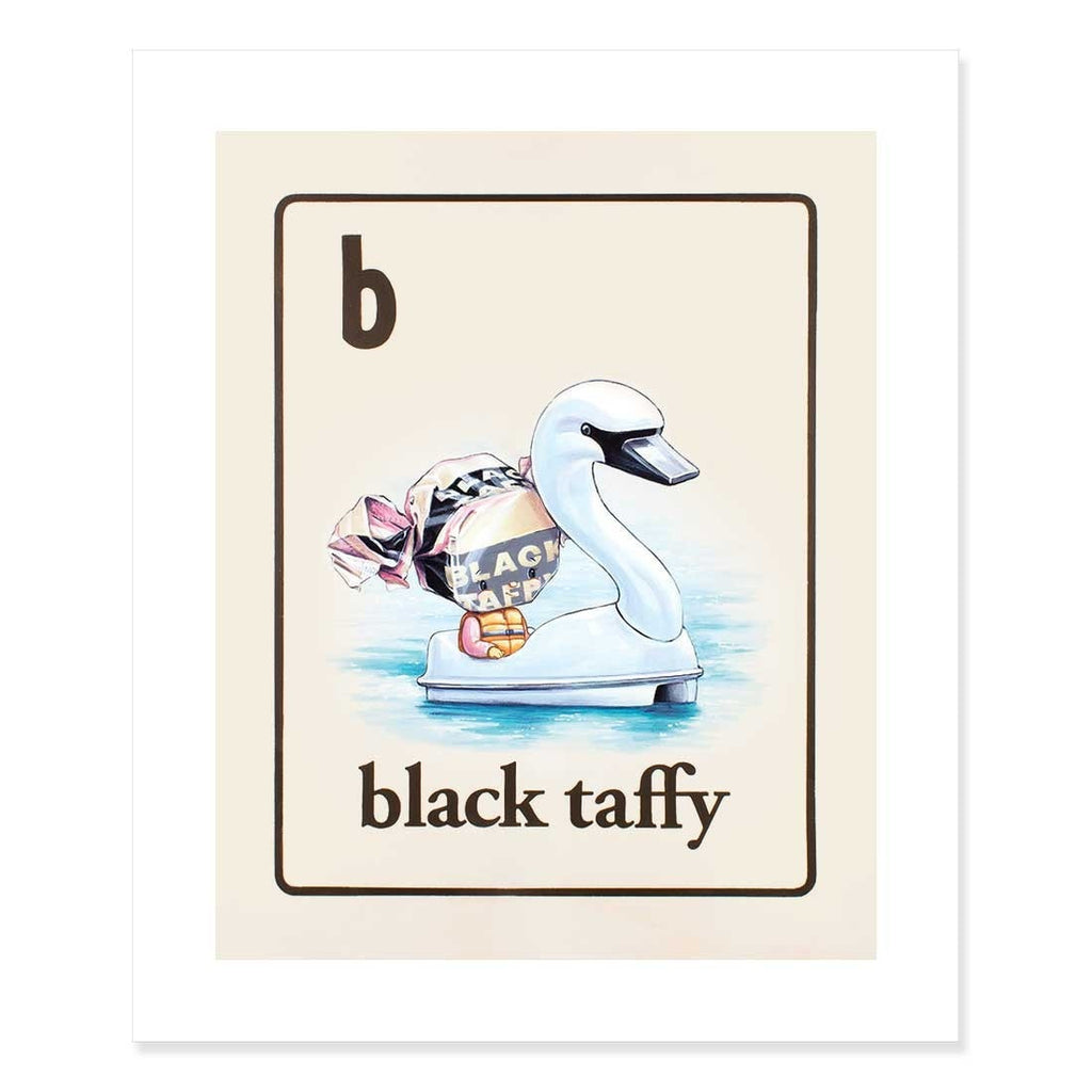 Black Taffy Print by Cindy Scaife