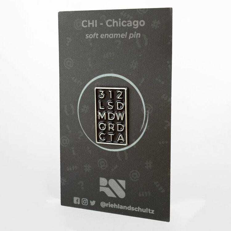 CHI - Chicago Enamel Pin