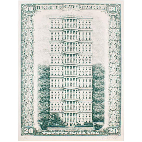 Untitled (Tall White House) Print by Curtis William Readel