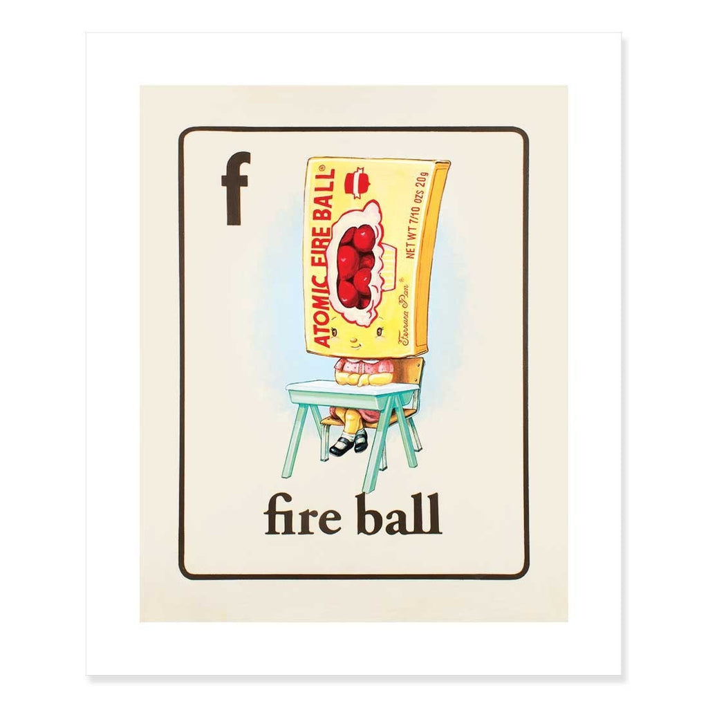 Fire Ball Print by Cindy Scaife