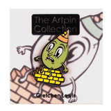 The Artpin Collection - Humpty Dumpty (Green) by Gretchen Lewis