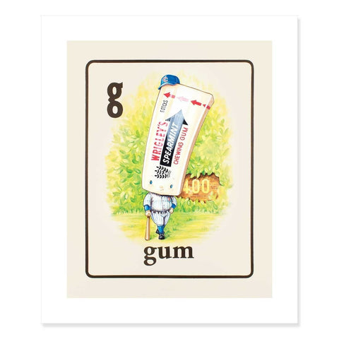 Gum Print by Cindy Scaife