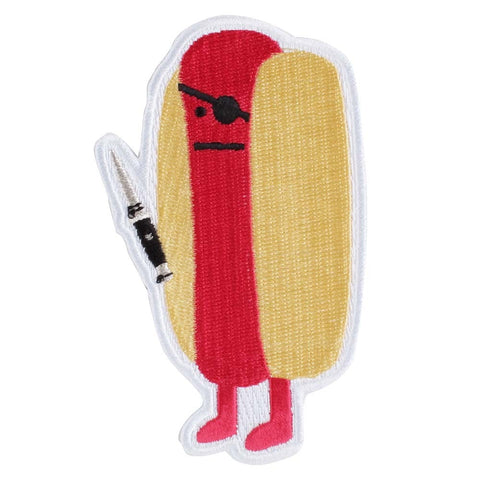Diabolical Hot Dog -  Embroidered Patch