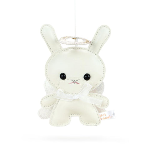 "Holiday 5"" Plush Angel Dunny Ornament by Flat Bonnie — Twinkle Edition"