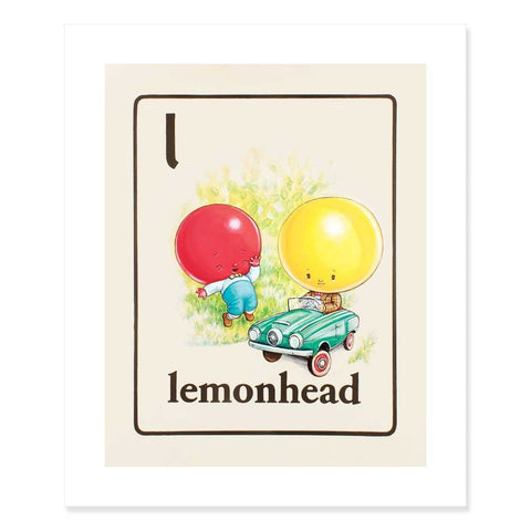 Lemonhead Print by Cindy Scaife