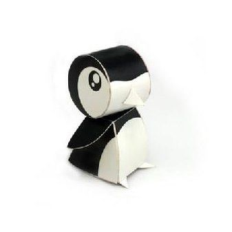 Penguin DIY Paper Toy Postcard #027