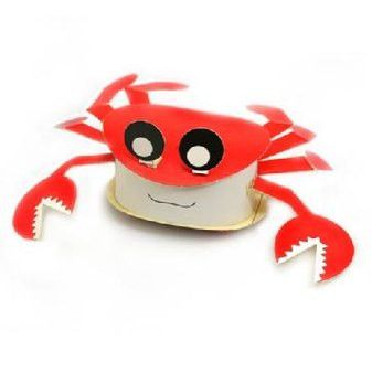Crab DIY Paper Toy Postcard #060
