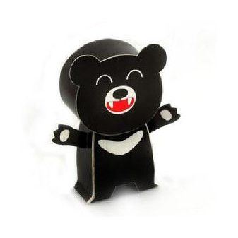 Formosan Black Bear DIY Paper Toy Postcard #124