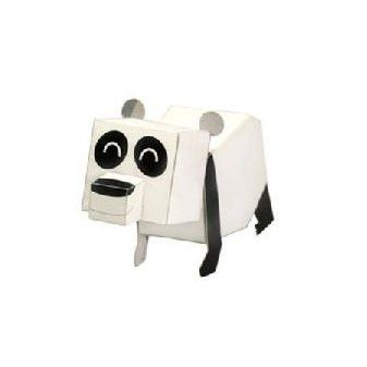 Panda DIY Paper Toy Postcard #022