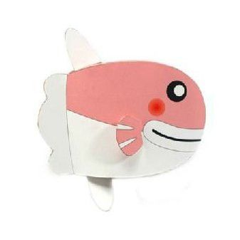 Moonfish DIY Paper Toy Postcard #043