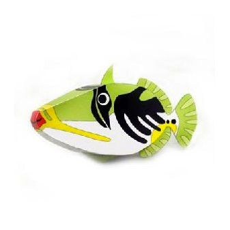 Filefish DIY Paper Toy Postcard #047