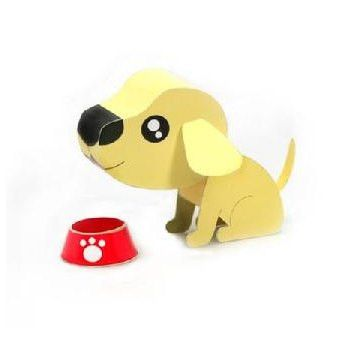 Labrador Retriever DIY Paper Toy Postcard #100