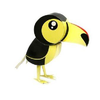 Toucan DIY Paper Toy Postcard #117