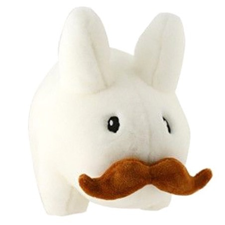 White - Stache Labbit - 14 inch