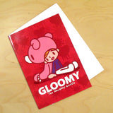 Gloomy Bear Greeting Card - Back to Back