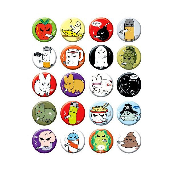 Kozik x Kidrobot Smorks n' Mongers Button - Random Assortment