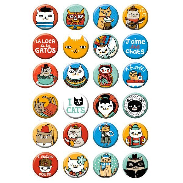 Cat Box Buttons - Random Assortment