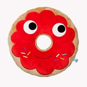 "16"" Yummy Breakfast Red Donut Plush"