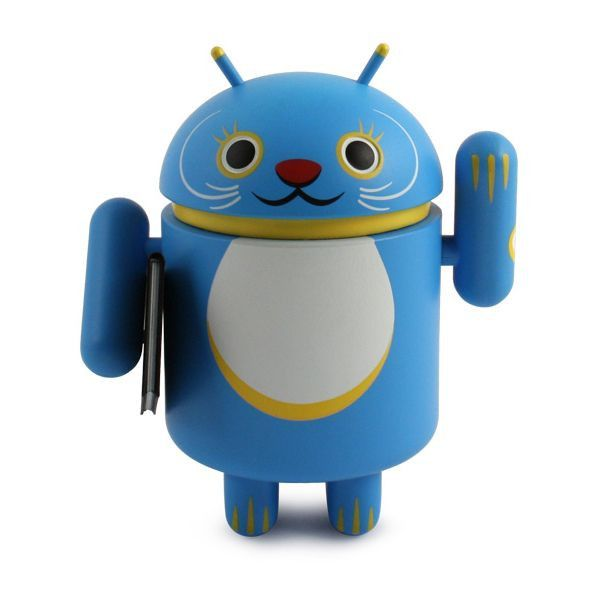 Android Lucky Cat - Blue with Notebook