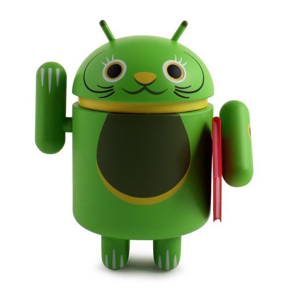 Android Lucky Cat - Green with Notebook