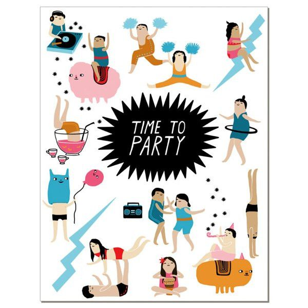 Partytime Greeting Card