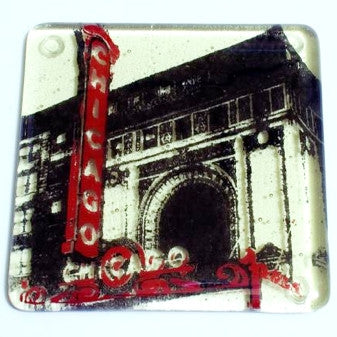 Chicago Theater Coaster - Handmade Fused Glass