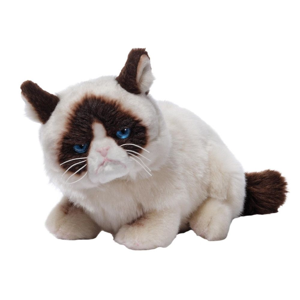 Grumpy Cat Lying Down Plush - 14 Inches