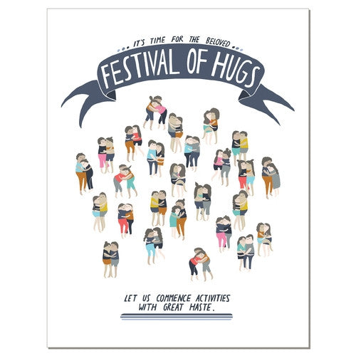 Hug Festival - Greeting Card