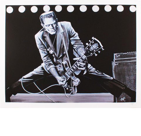 Rock 'n' Roll Monster Print by Mike Bell