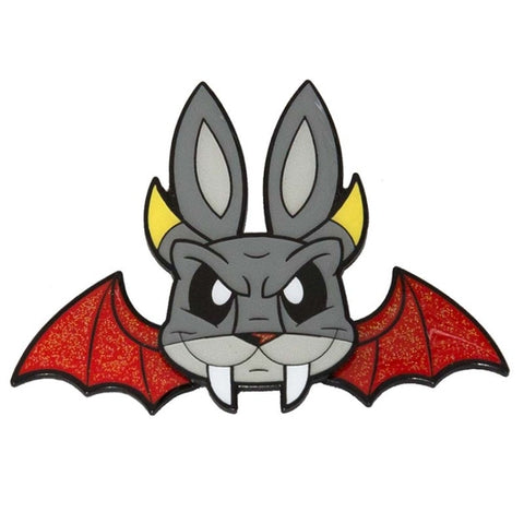 JLed Metal Lapel Pin - Demon Bunny