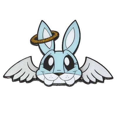 JLed Metal Lapel Pin - Angel Bunny