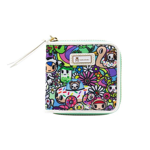 Tokidoki Flower Power Small Zip-Around Wallet