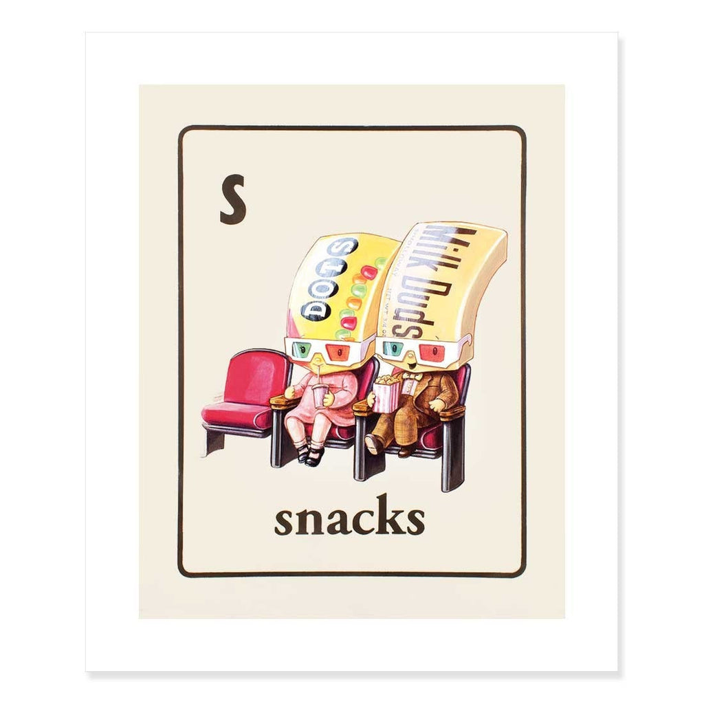 Snacks Print by Cindy Scaife