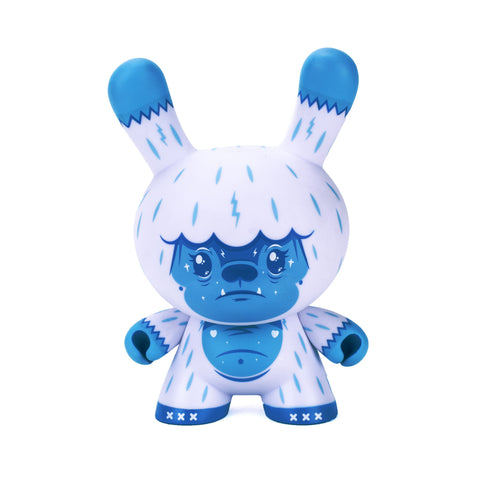 "Kono the Yeti - Ice Blue 8"" Dunny by Squink X Kidrobot"