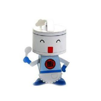 Rice Cooker Bot DIY Paper Toy Postcard #090