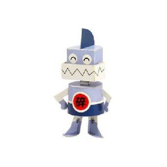 Steel Tooth DIY Paper Toy Postcard #096