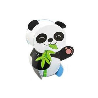 Panda (Blue) DIY Paper Toy Postcard #1209