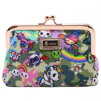 Camo Kawaii Clasp Coin Purse by Tokidoki