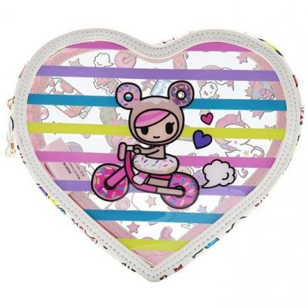 Denim Daze Clear Cosmetic Case by Tokidoki