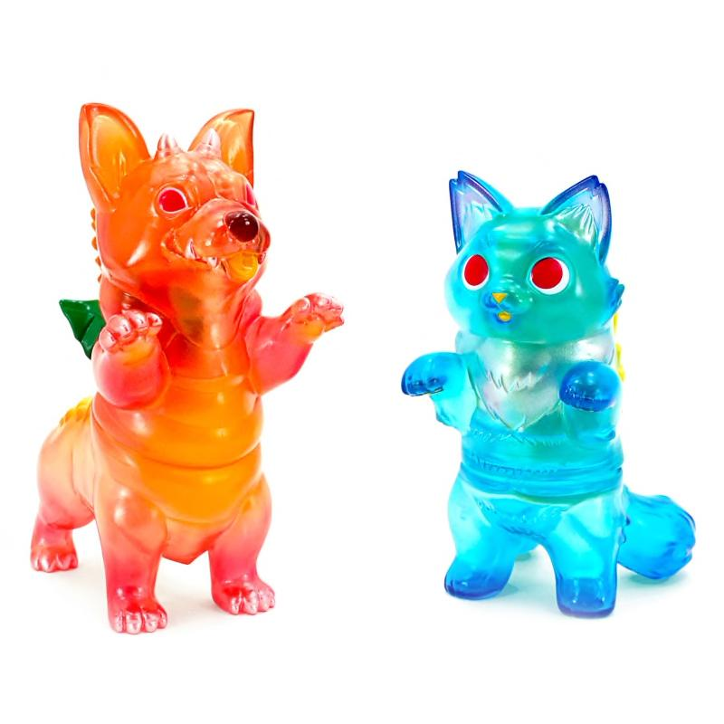 Fluffy Negora Blue Hawaii and Corgidora Mai Tai Set